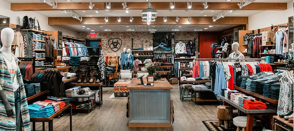Ariat Brand Shop | Fresno | Store inner view